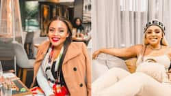 Oh baby: Prince Kaybee's ex girlfriend Zola is expecting a little bundle of joy