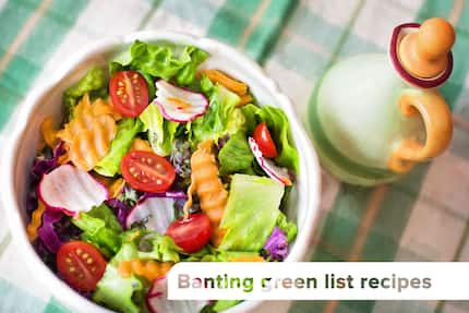 Banting green list recipes