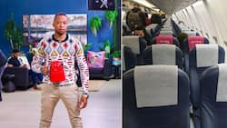 """""""I wish to be that kettle"""": Mr Smeg boards a flight with his beloved appliance, Mzansi wowed"""