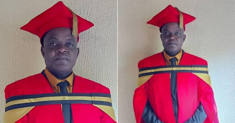 Mzansi is truly inspired by a man who holds many academic degrees. Image: Mpumalanga Dept. of Education/Facebook