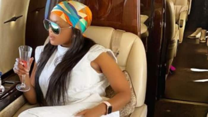 Lerato comes home in style after a luxurious getaway with bae