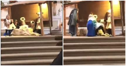 Twitter in stitches after little girl tried to kidnap baby Jesus