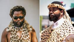 Sjava introduces his 3 'wives' to the world, peeps ask about Lady Zamar