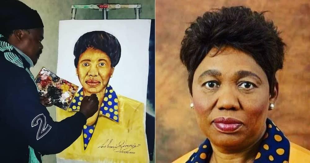 Mzansi can't deal with Rasta's portrait of Minister Angie Motshekga