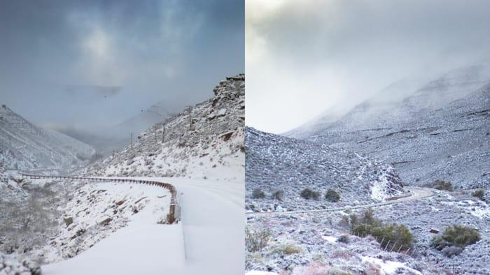 Winter wonderland: Mzansi shares snaps of frozen landscapes
