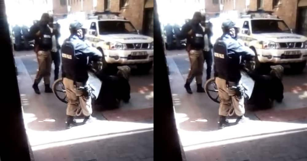 Two metro cops have been suspended pending an investigation.