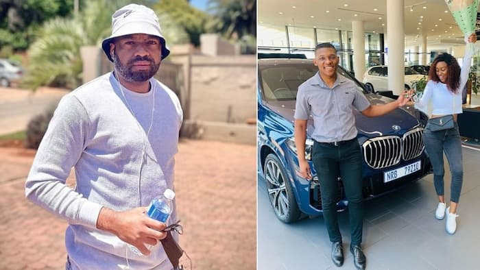 """""""I love it"""": Itumeleng Khune's wifey, Sphelele, shows off stylish vacation whip on loan"""