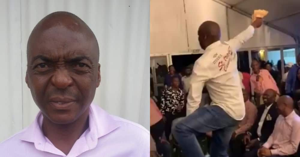 Man flexing stack of cash identified as tender scammer, Moses Kgomo