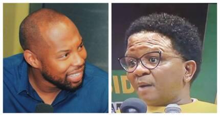 "Shots fired! Fikile Mbalula vs Sizwe Dhlomo and ""that hair"""