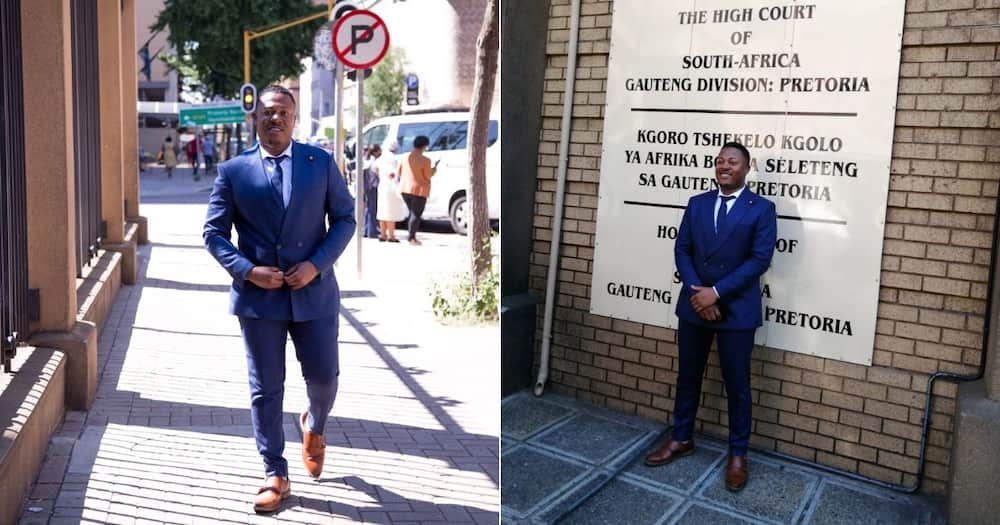 Mzansi social media users are reacting and congratulating the man who is admitted to the High Court of South Africa. Image: Twitter