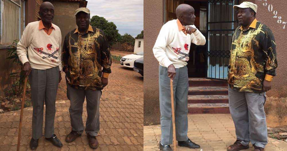 """Grand Old Man"": Tito Mboweni Gets Life Advice from Ndhuna Mageza"