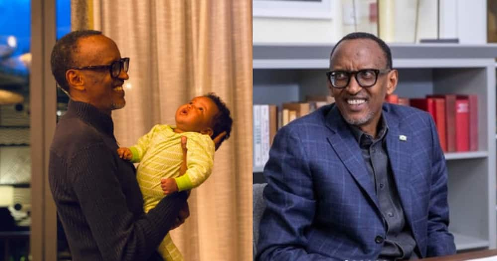 Paul Kagame shares precious moment with his first granddaughter