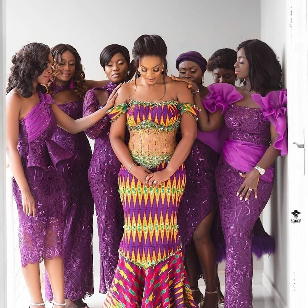 Ghanaian traditional bridesmaids dresses