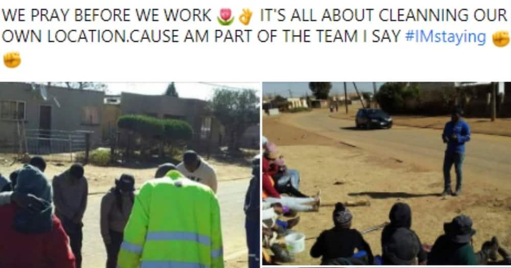 Mzansi, Township, Cleaning, Prayer