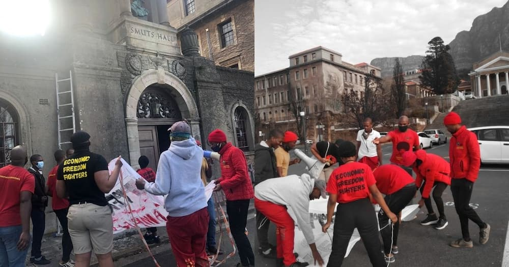 EFF, support, Jan Smuts, name, removed, UCT, residence