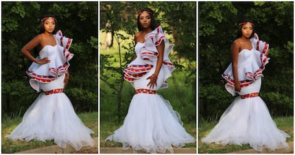 Talented SA designer wows Twitter with beautiful wedding dress
