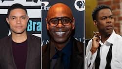 Trevor Noah shows love and praises fellow comedians Chris Rock and Dave Chapelle