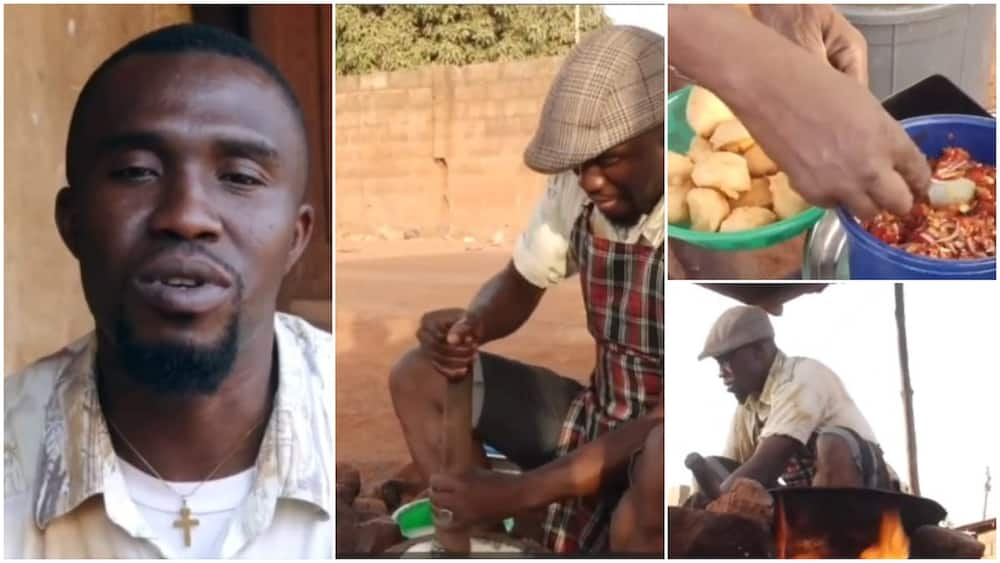 Nigerian graduate Justice turn to akara frying business after 3 years of unemployment
