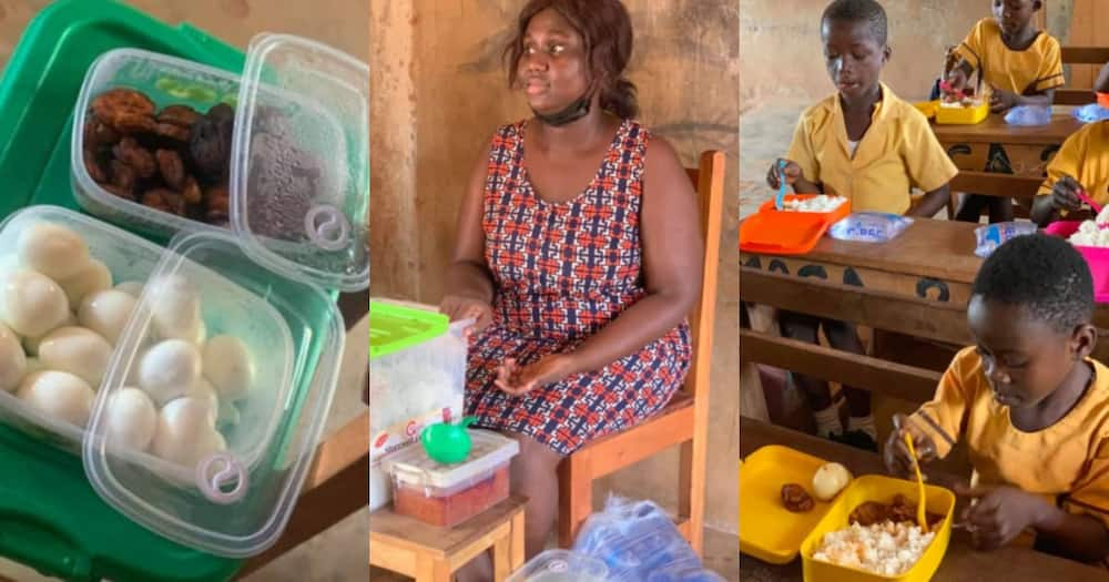 Abenah Mankosa: Ghanaian teacher feeds students with hot meals each day with her money