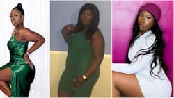 Pretty lady flaunts hourglass body in photo showing her before and after massive weight loss