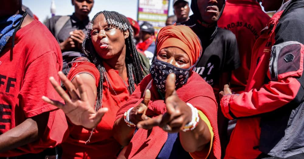 Clip of EFF supporter unsure why she's actually in Senekal goes viral