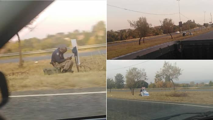 """""""Only in SA"""": Hilarious photo of cop hiding behind signpost has SA in stitches"""