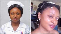 I became a nurse today: Lady celebrates, marks success with white uniform that shows she's ready