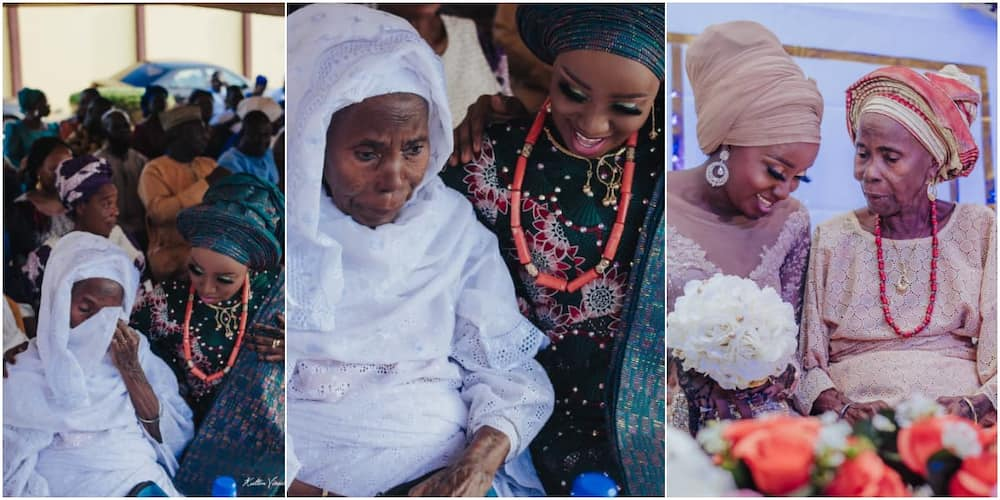 This is so sweet: Massive reactions trail adorable photos of granny crying at granddaughter's wedding ceremony
