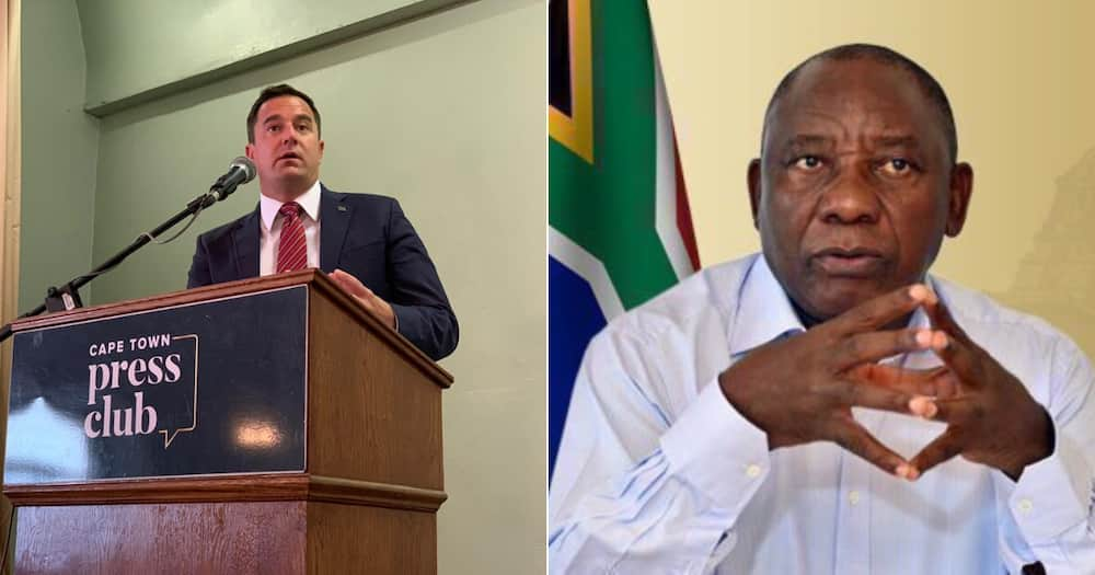 The Democratic Alliance (DA) wants no part in President Cyril Ramaphosa's no-confidence motion