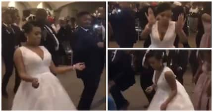 Video of couple's epic wedding dance has Mzansi's feet itching for a jive