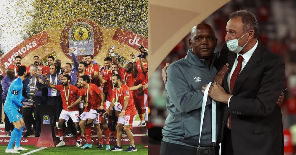 Pitso Mosimane leads Al Ahly to victory winning the African Super Cup