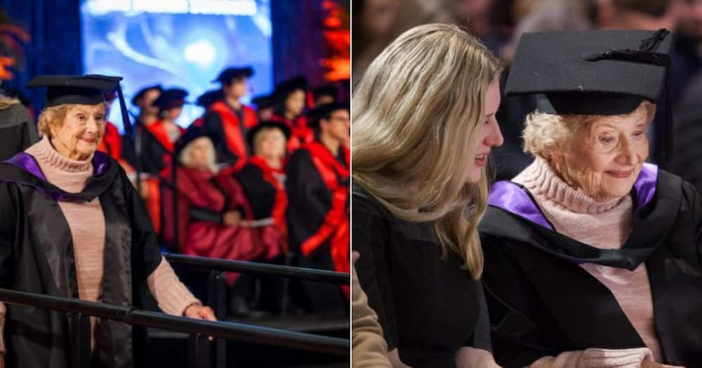 """Woman graduates at 90 years old: """"You're never too old to dream"""""""