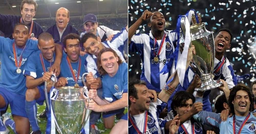 Legend Benni McCarthy has shared images as he remembers their UEFA Champions League win back in 2004. Image: @BenniMac17/Instagram