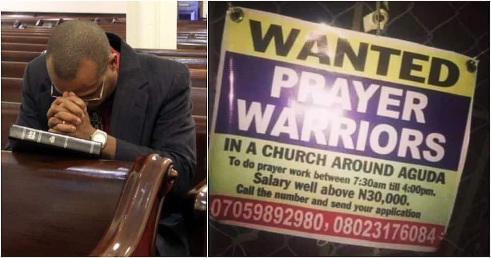 Poster of church advertising for prayer warriors go viral online