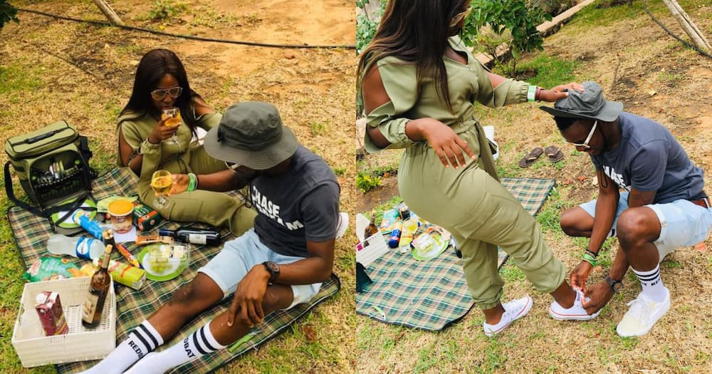 Mzansi shared many reactions to a couple's anniversary picnic