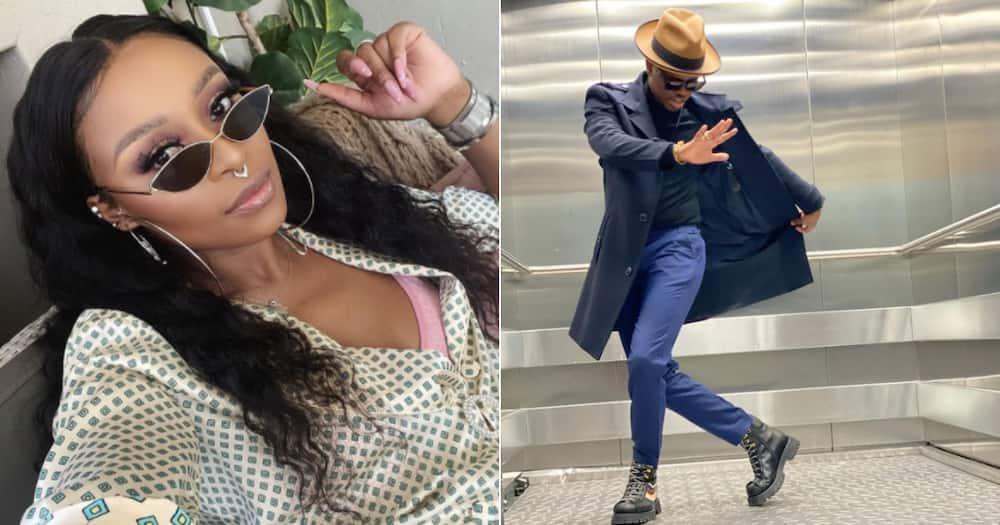 DJ Zinhle and Murdah Bongz dance together, sparking romance rumours
