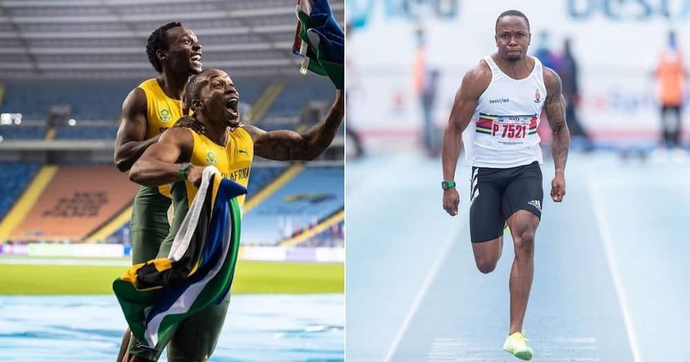 Mzansi's finest athlete Akani Simbine wins the 100-metre race in Rome in 10 Seconds. Image: @Akani_Simbine/Instagram