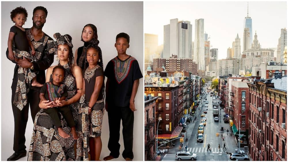A collage of Ken and family with New York City. Photo source: Facebook/Free Hugs Project/CN Traveller
