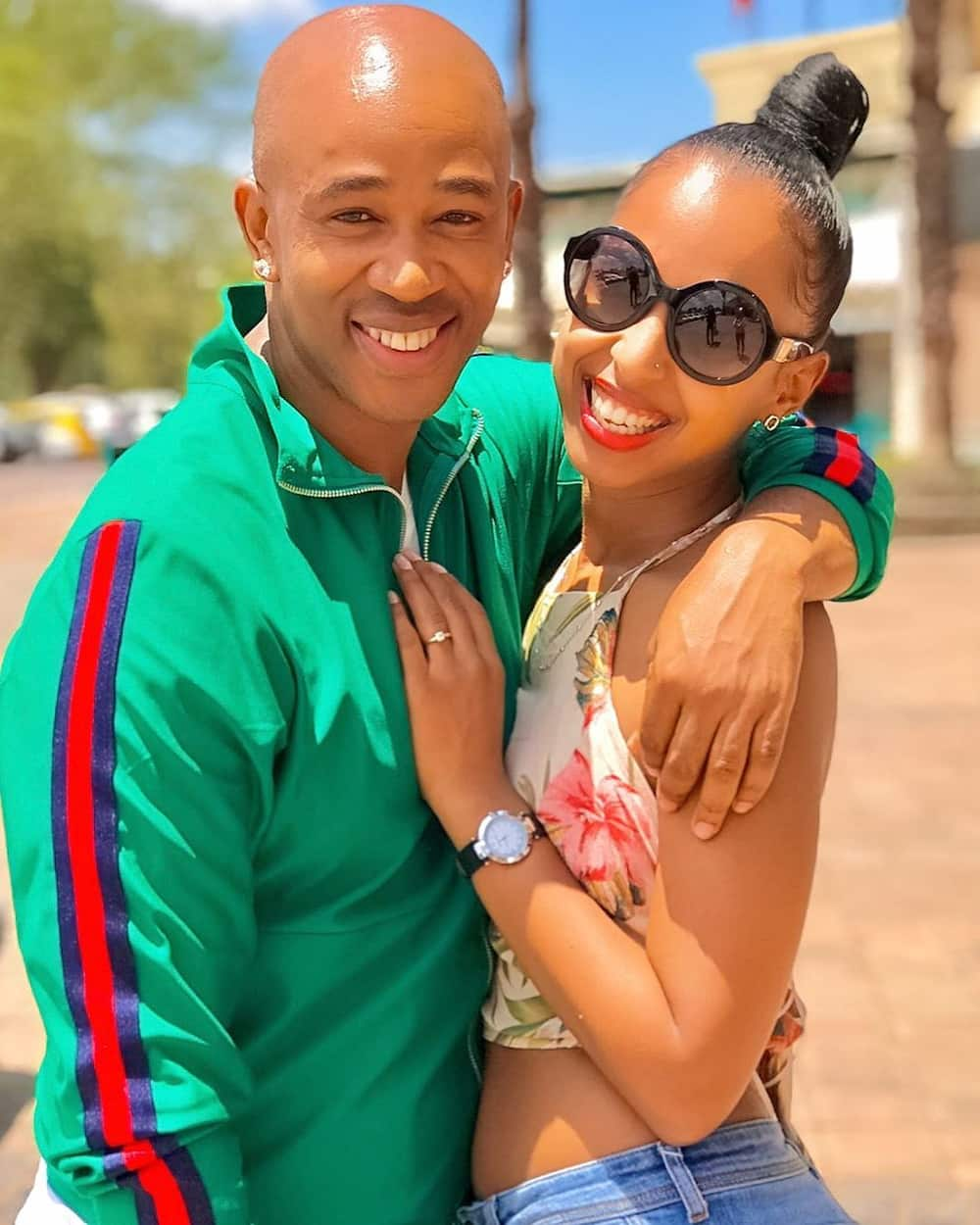 Theo Kgosinkwe and fiancé Vourné Williams beat the coronavirus