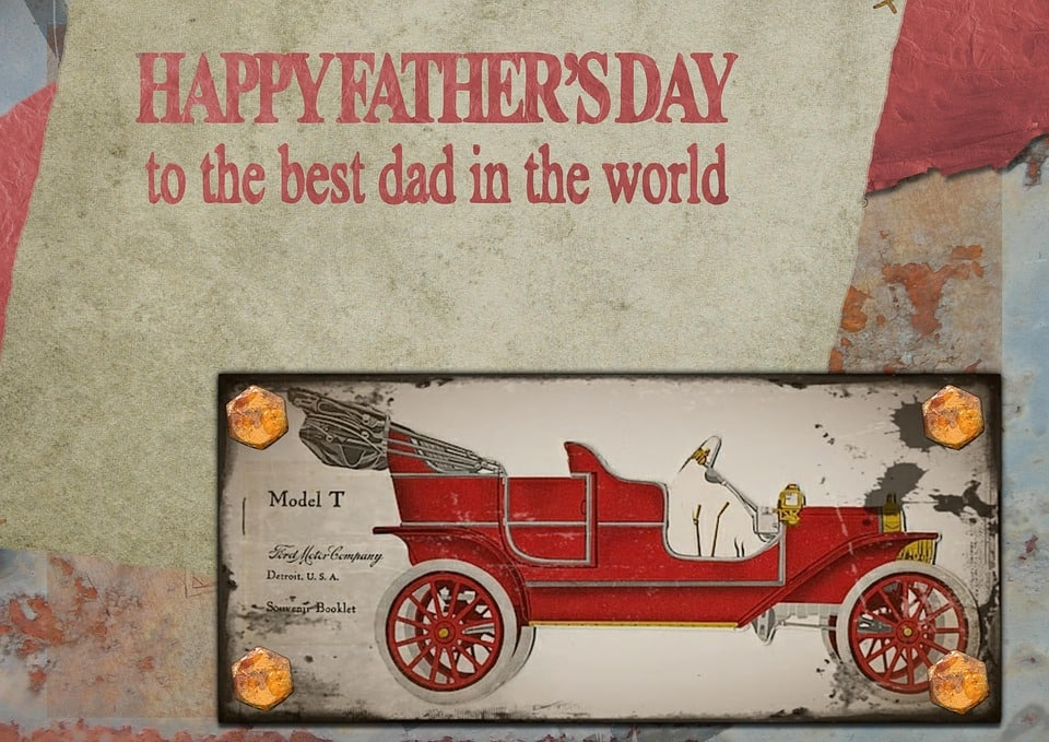 The artistic Father's Day picture