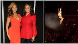 Tina Knowles reacts to old video of Beyoncé doing mid-air flips