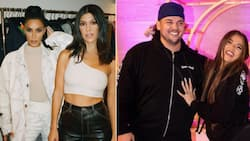 Kim Kardashian shares rare photo of Rob out or dinner with Khloe, Kourtney and Travis Barker