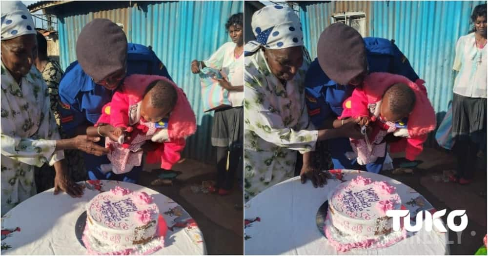 Exclusive: Kind police officer who rescued baby dumped in toilet holds heart-warming birthday party for her