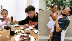 Kairo Forbes is a caring daughter, Sets her daddy AKA a beautiful table for lunch
