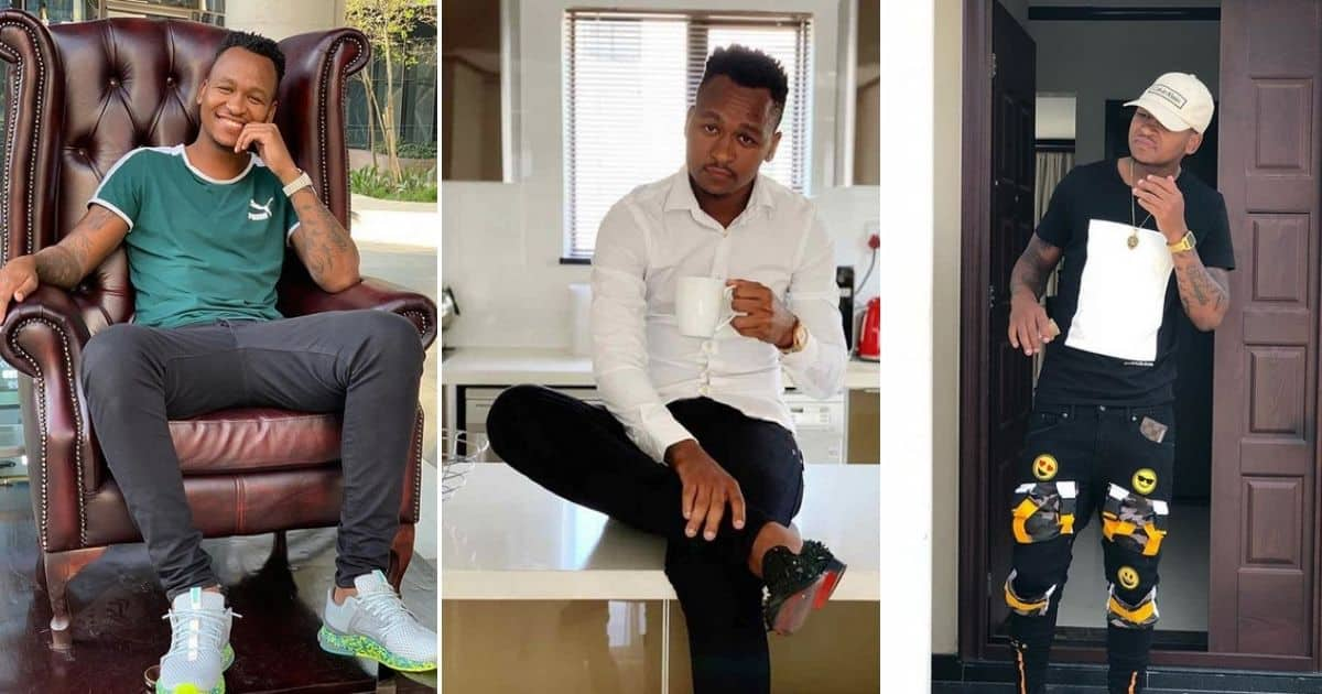 Brilliant Khuzwayo posts snap of himself rocking R19 000 kicks