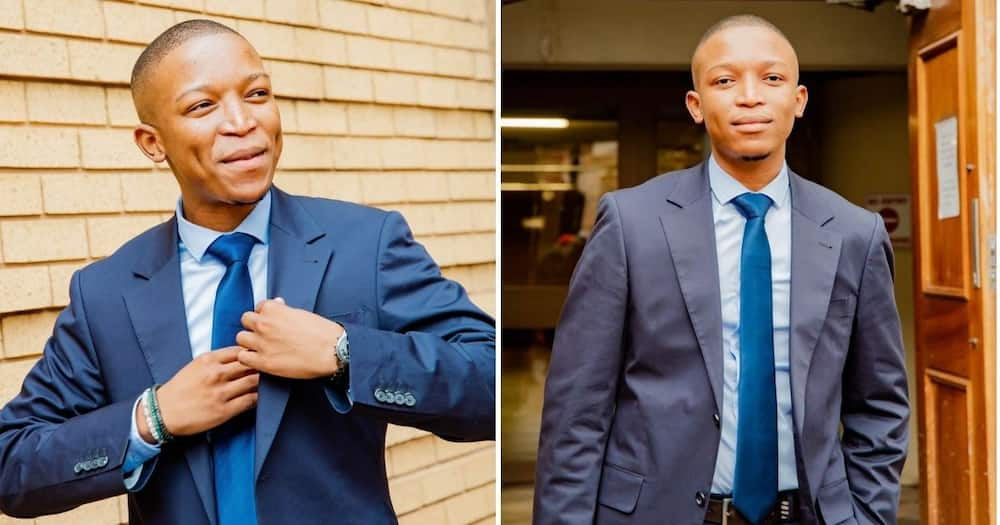 South African Twitter users are delighted as they congratulate young attorney Katlego Makgaila. Image: Twitter