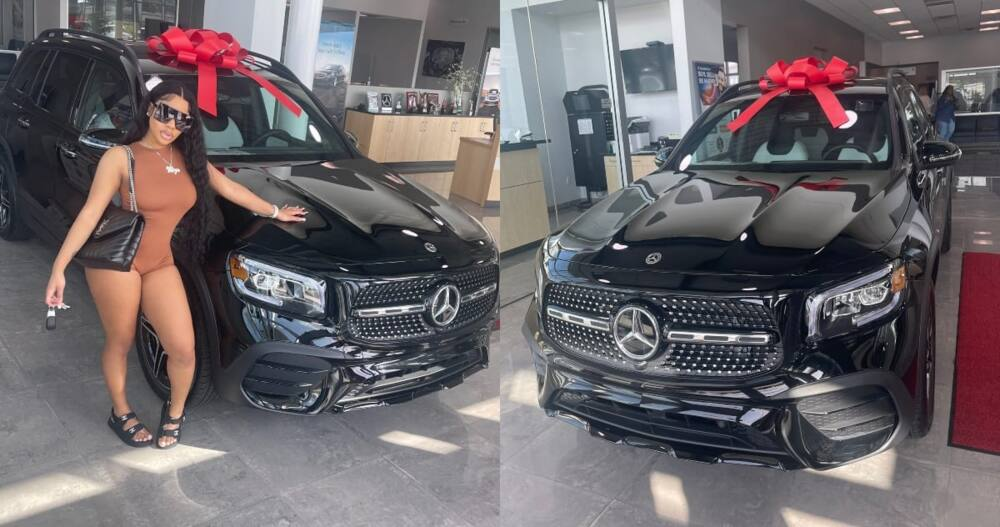 Lady says she got Herself new 2021 Model of Expensive Mercedes Benz GLA 450; Stirs Reactions