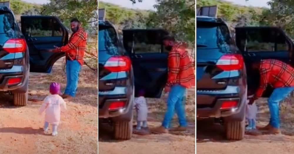 Adorable, Video of Dad, Opening Door, Baby, Warms Mzansi