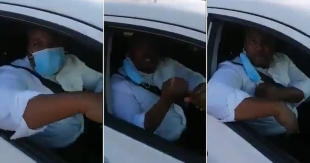 Man slams traffic cop for skipping red light after getting pulled over