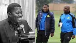 Heartbroken Pitso Mosimane pays tribute to ex-Mamelodi Sundowns spokesperson Thuswa